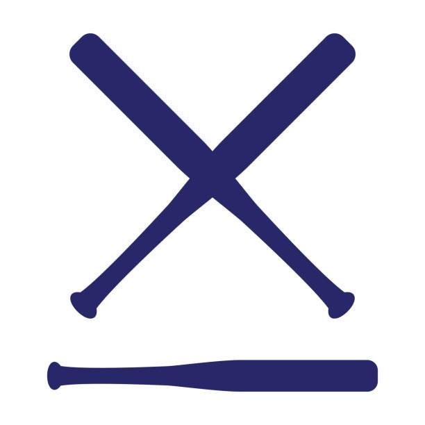 5c09bfdbfe7 Baseball crossed bats. Criss cross bats. Flat vector illustration vector  art illustration