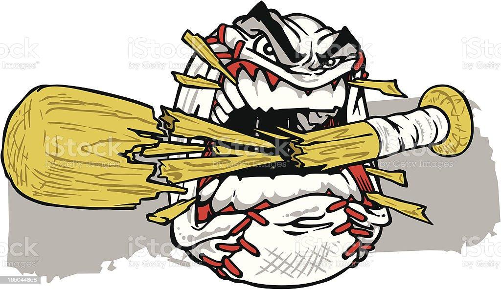 Baseball Crunch vector art illustration