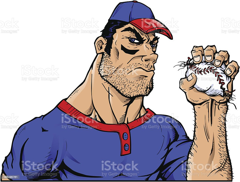 Baseball Crush Man royalty-free stock vector art