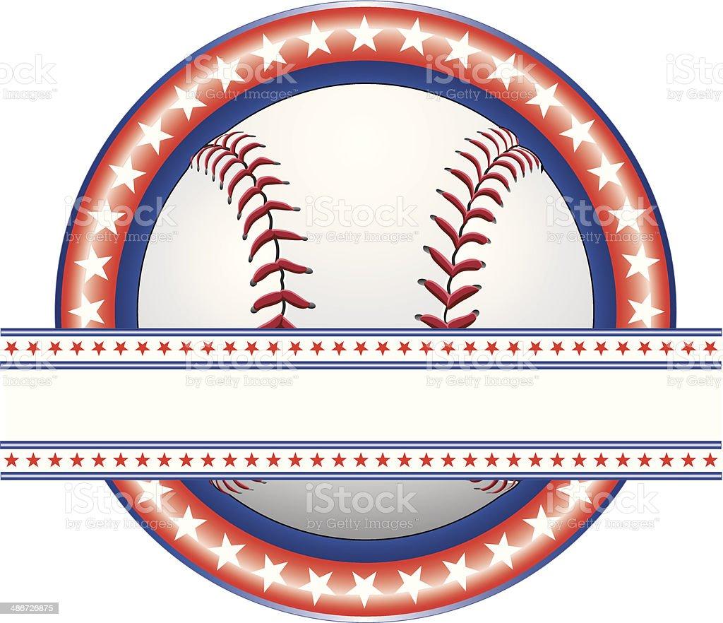 Baseball Design - Red White and Blue vector art illustration