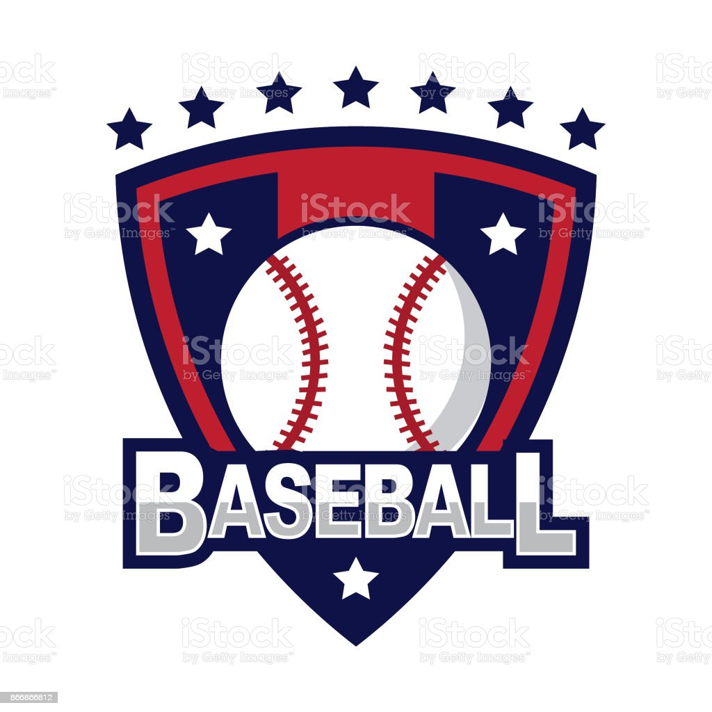 Baseball design template vector art illustration