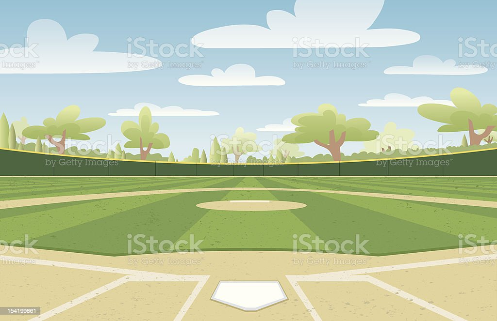 royalty free baseball field clip art vector images illustrations rh istockphoto com free clipart baseball field baseball fielder clipart