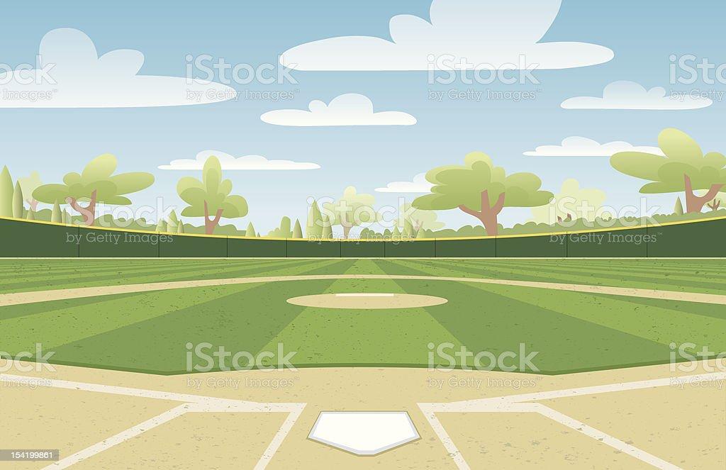 royalty free baseball field clip art vector images illustrations rh istockphoto com baseball field clipart free baseball field clipart free