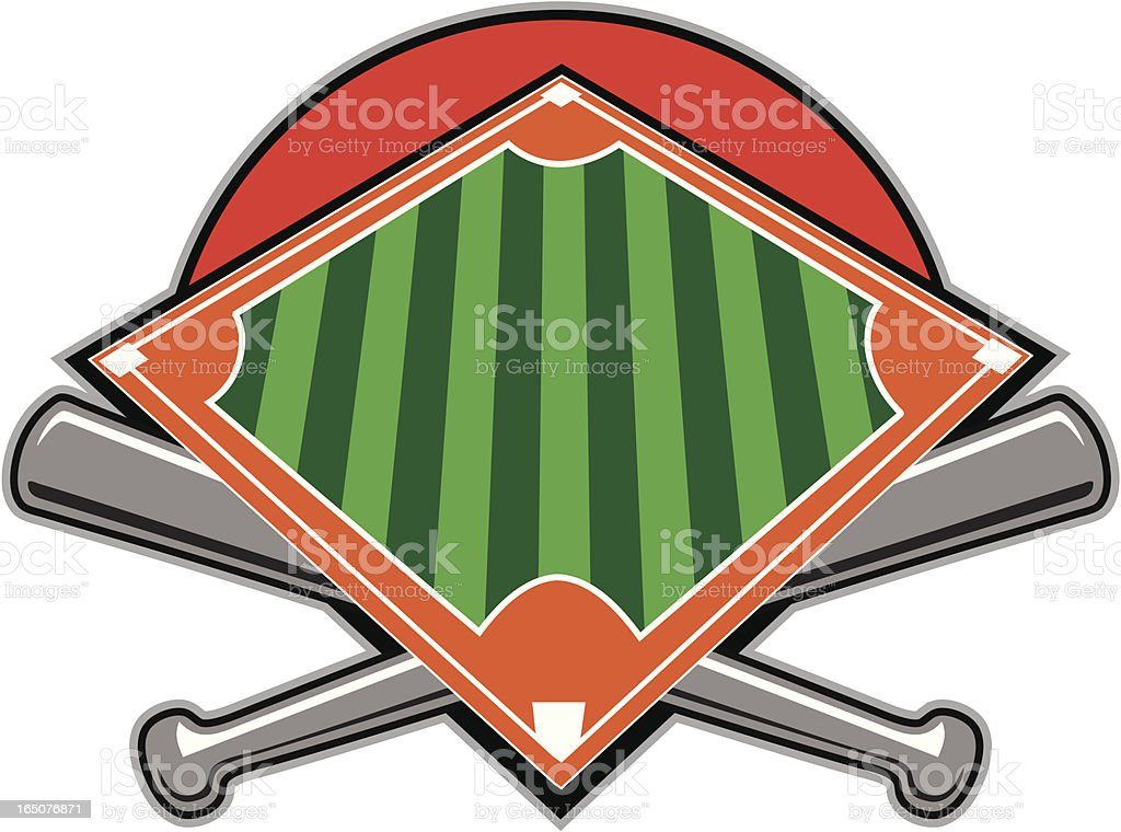 Baseball Diamond royalty-free stock vector art