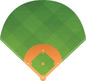 Baseball diamond with copy space. EPS 10 file. Transparency used on highlight elements.