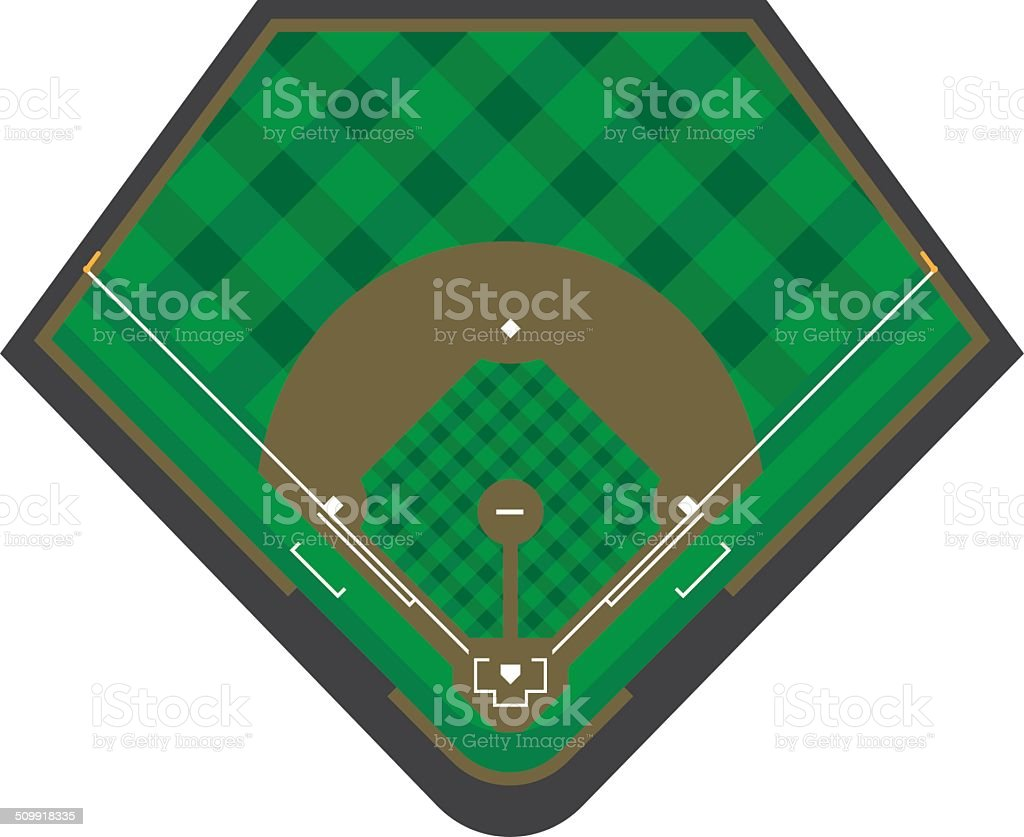 Baseball Diamond vector art illustration
