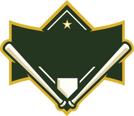 Baseball Diamond with Crossed Bats