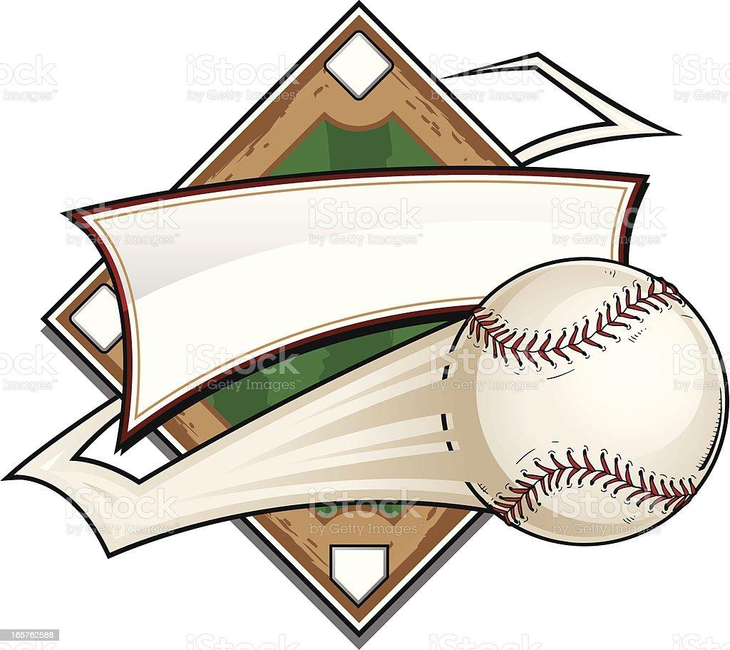Baseball Diamond Zigzag vector art illustration