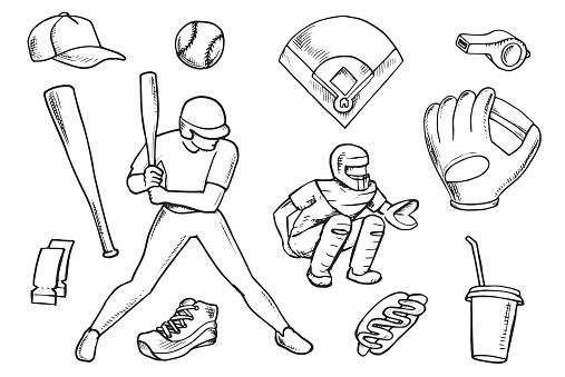 Baseball Doodle Set