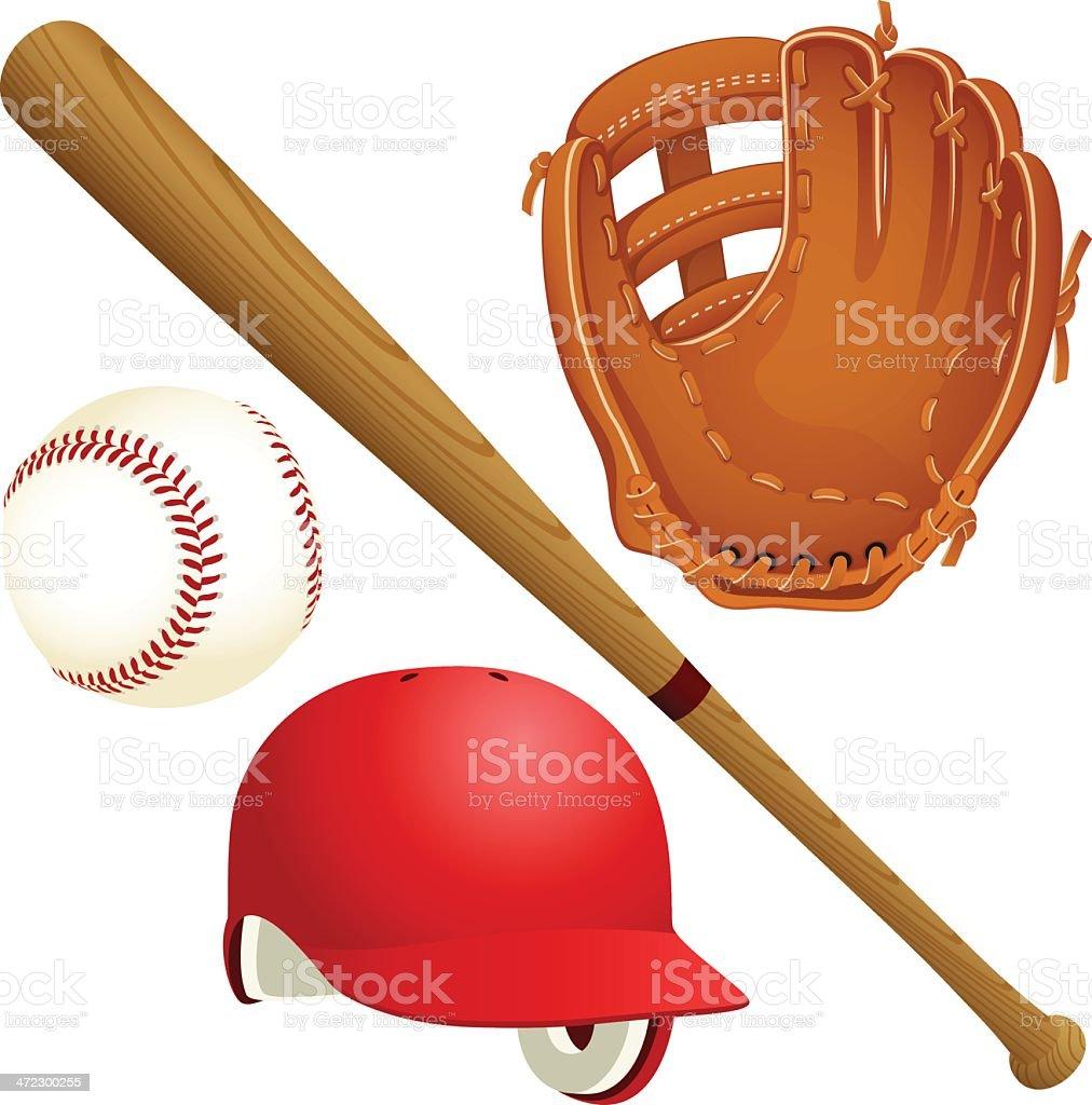 Baseball Elements royalty-free baseball elements stock illustration - download image now