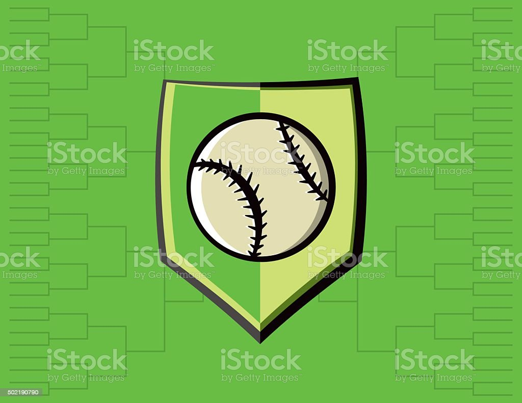 Baseball-Emblem und Turnier-Hintergrund – Vektorgrafik