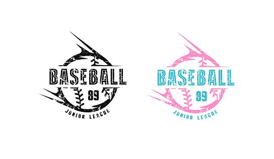 Baseball emblem for t-shirt
