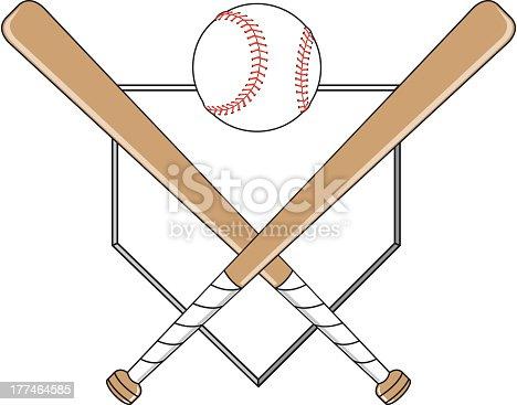 istock Baseball Emblem 177464585