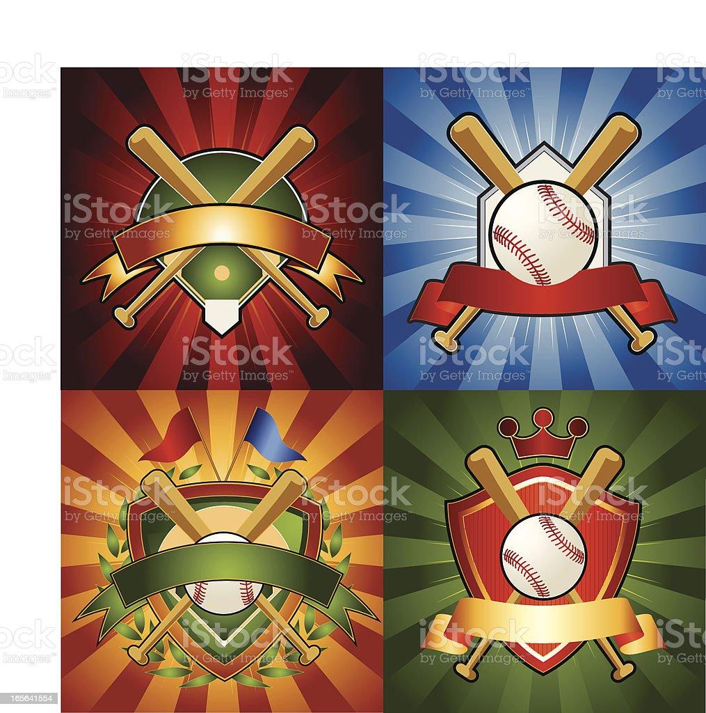 Baseball Emblems vector art illustration
