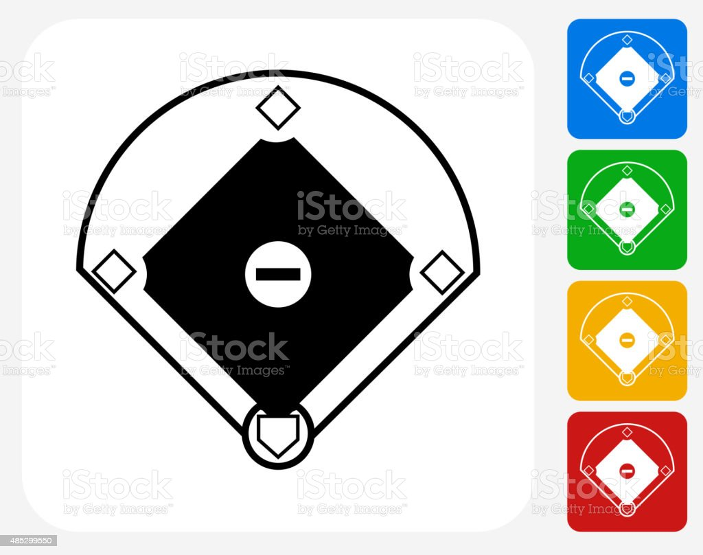 Baseball-Feld-Symbol flache Grafik Design – Vektorgrafik