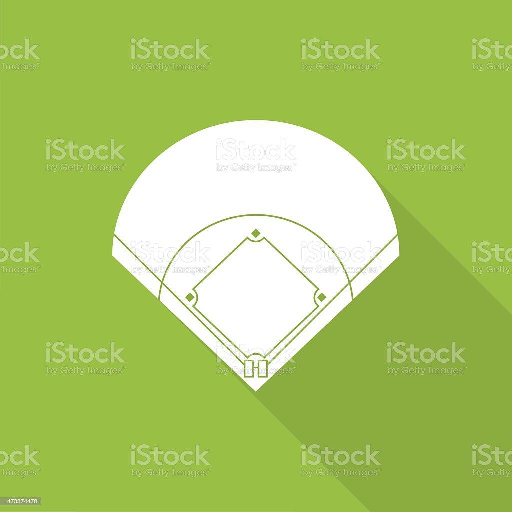 baseball-Feld-Symbol – Vektorgrafik
