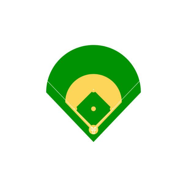 baseball-feld-abbildung - aerial overview soil stock-grafiken, -clipart, -cartoons und -symbole