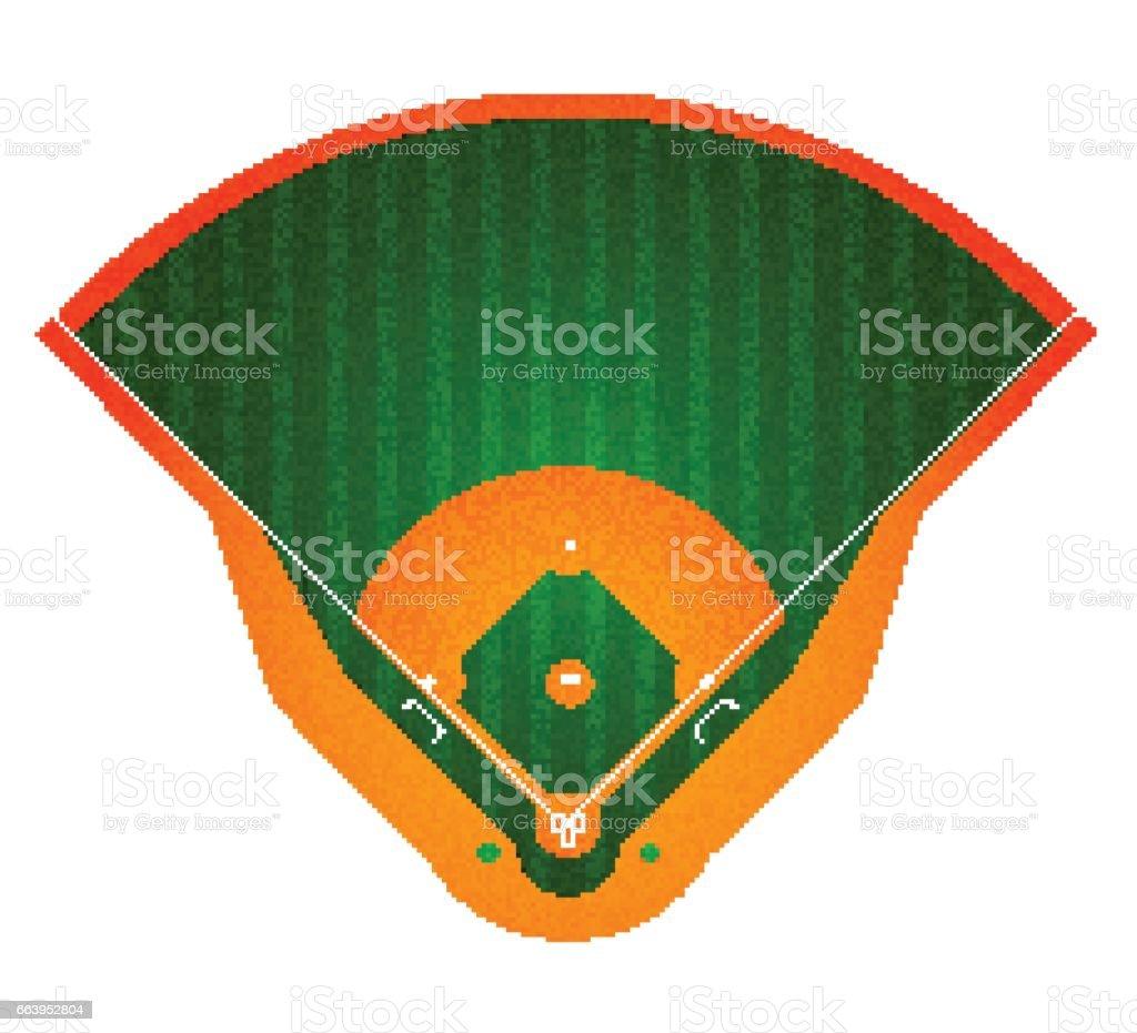 Baseball Field. Isolated on white. Vector illustration vector art illustration