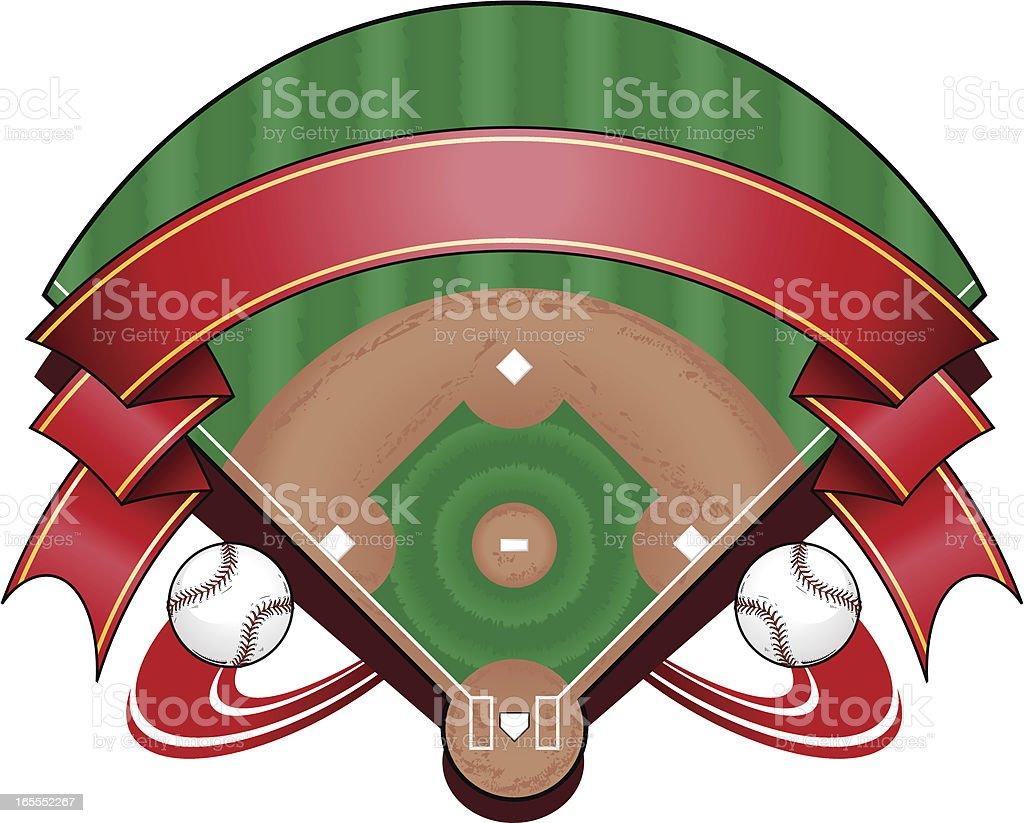Baseball Field Logo royalty-free stock vector art