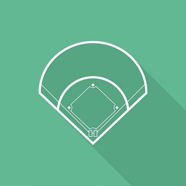 baseball field - baseball stadium stock illustrations, clip art, cartoons, & icons