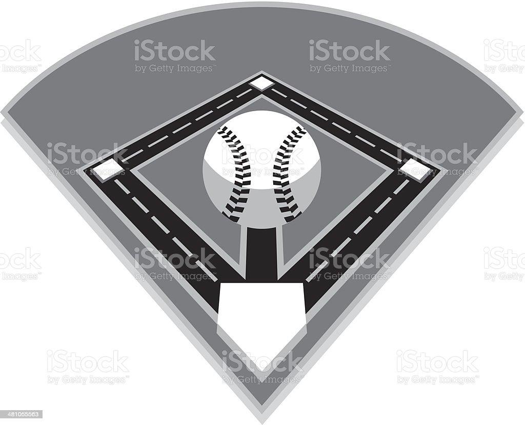 Baseball-Feld – Vektorgrafik