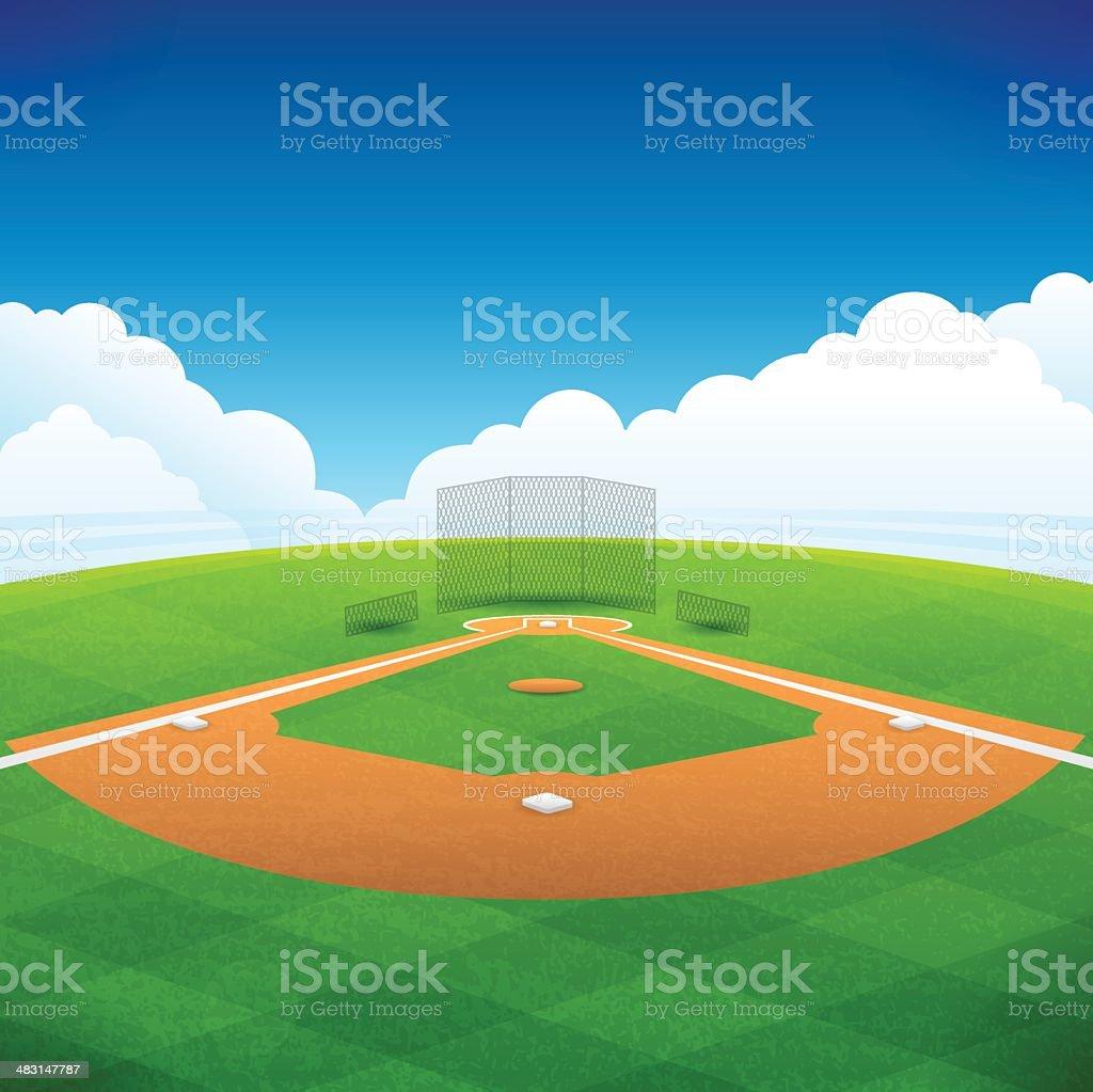Baseball Field vector art illustration