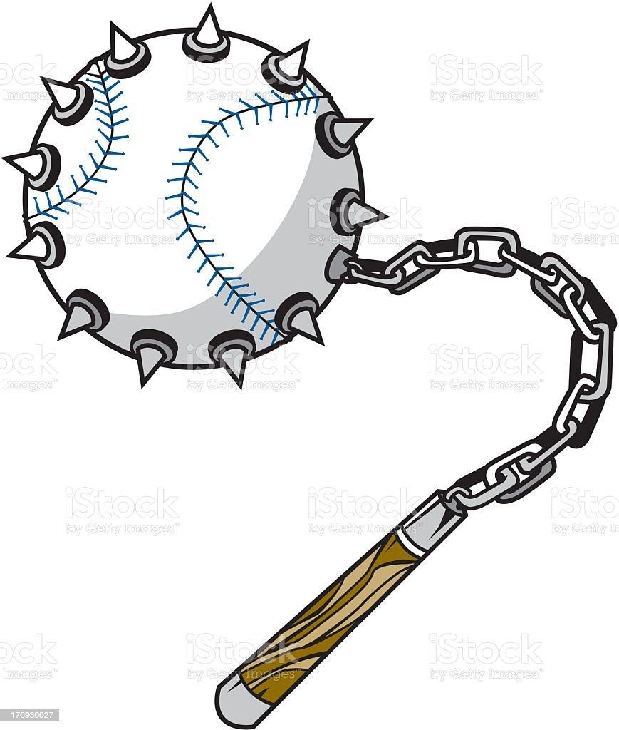 Baseball Flail royalty-free stock vector art