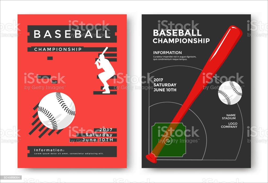 Baseball game poster vector art illustration