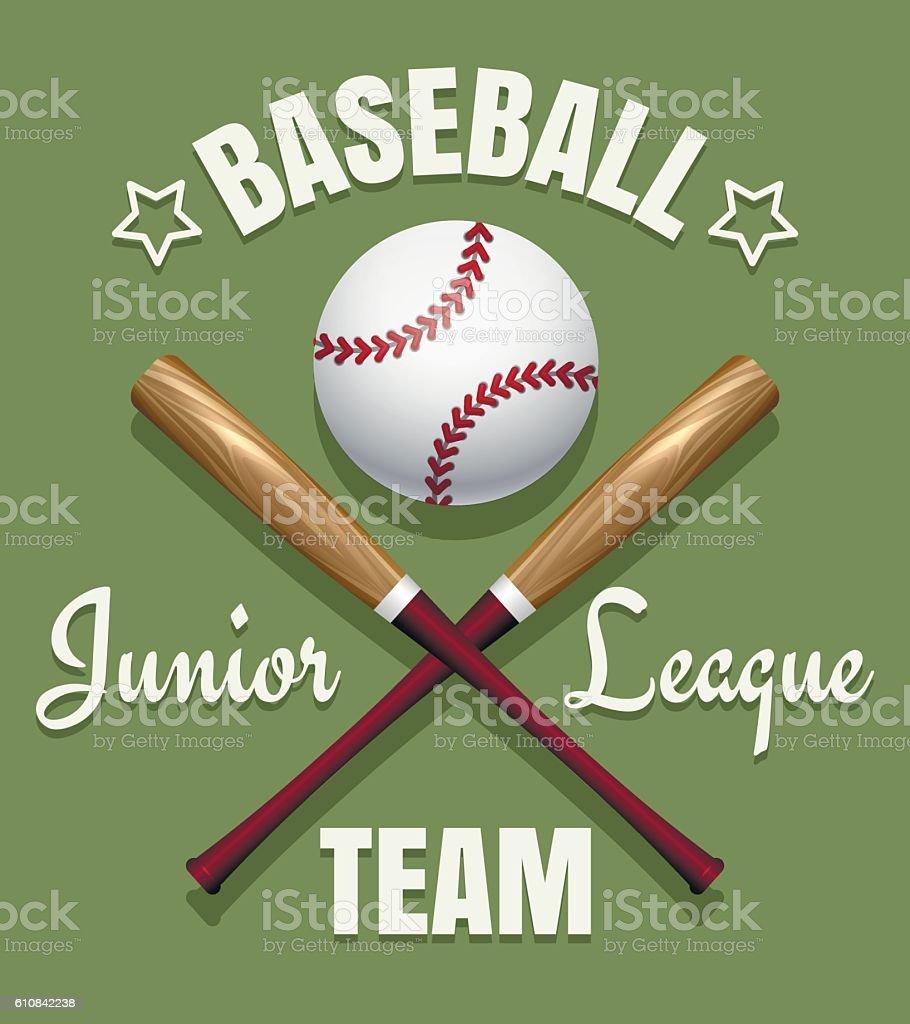 Baseball game team emblem vector art illustration