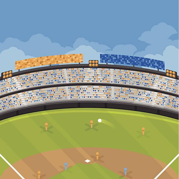 baseball game - baseball stadium stock illustrations, clip art, cartoons, & icons