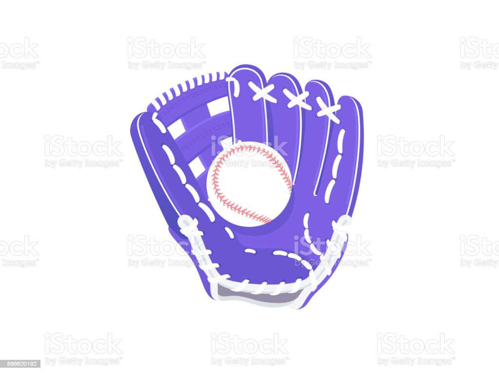 Baseball glove and ball royalty-free baseball glove and ball stock illustration - download image now