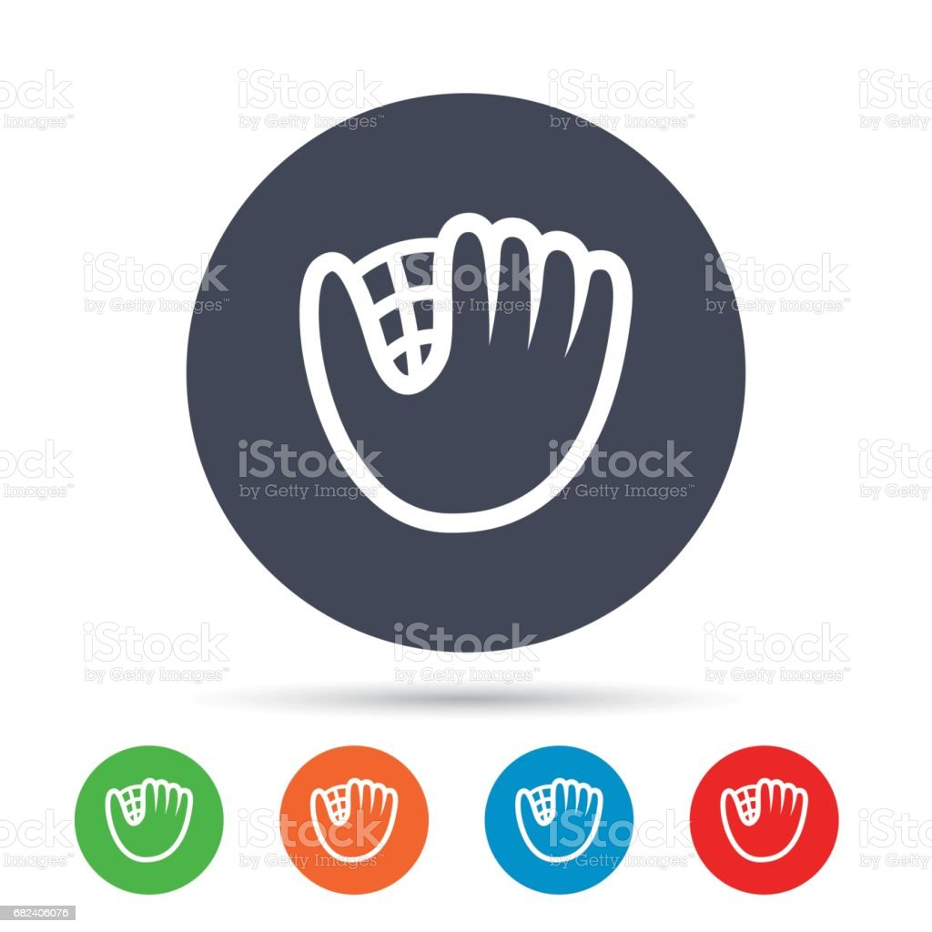 Baseball glove sign icon. Sport symbol. royalty-free baseball glove sign icon sport symbol stock vector art & more images of art