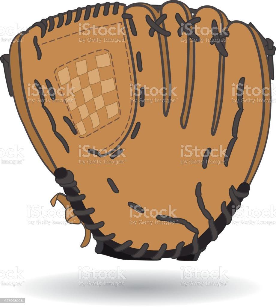 royalty free baseball glove on white clip art vector images rh istockphoto com baseball glove clipart free Baseball Diamond Clip Art