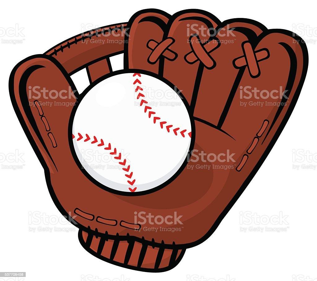 Baseball Glove With Ball - Royalty-free Baseball - Ball stock vector