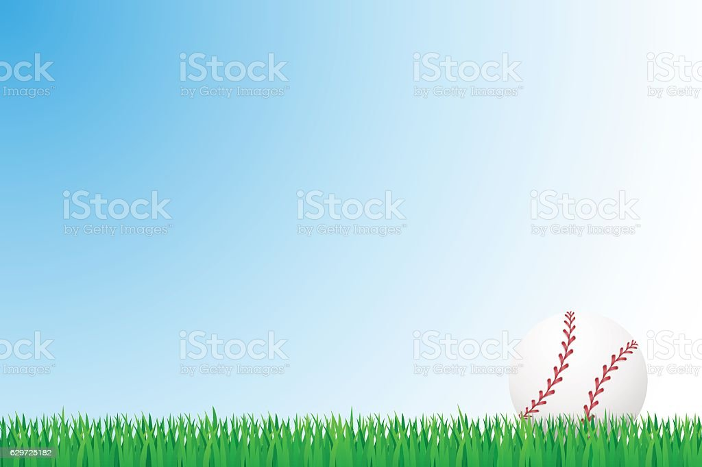 baseball grass field vector illustration vector art illustration