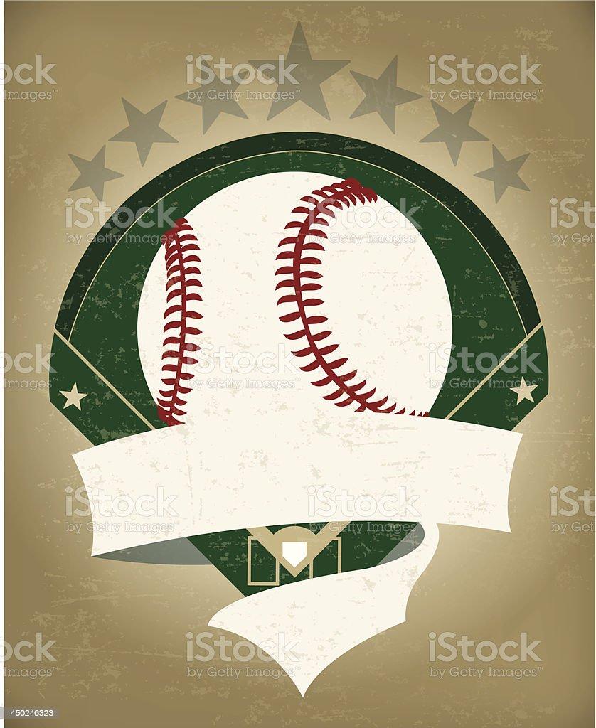 Baseball Grunge Banner Background vector art illustration