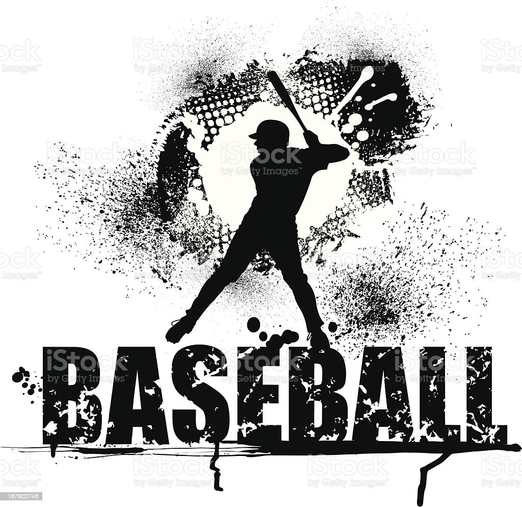 Baseball Grunge Graphic - Batter royalty-free stock vector art