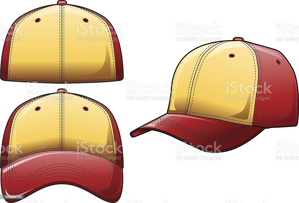 Baseball Hat 2 Color royalty-free stock vector art