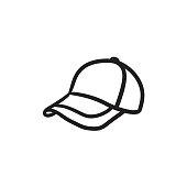 istock Baseball hat sketch icon 836727162