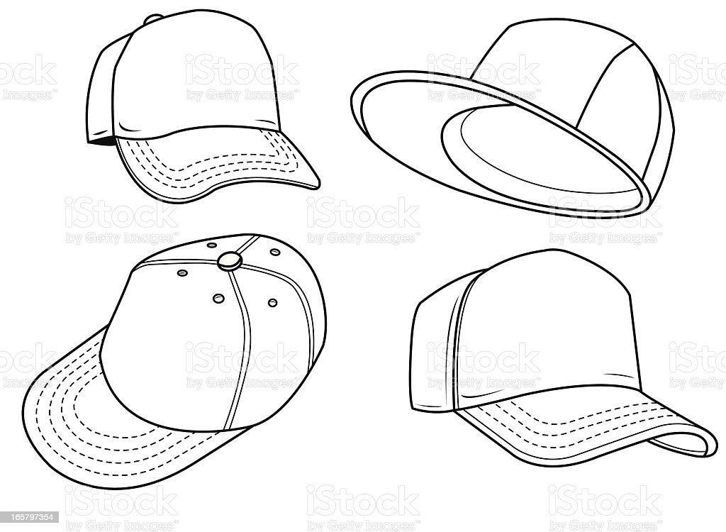 Line Drawing Hat : Baseball hat sports equipment stock vector art more