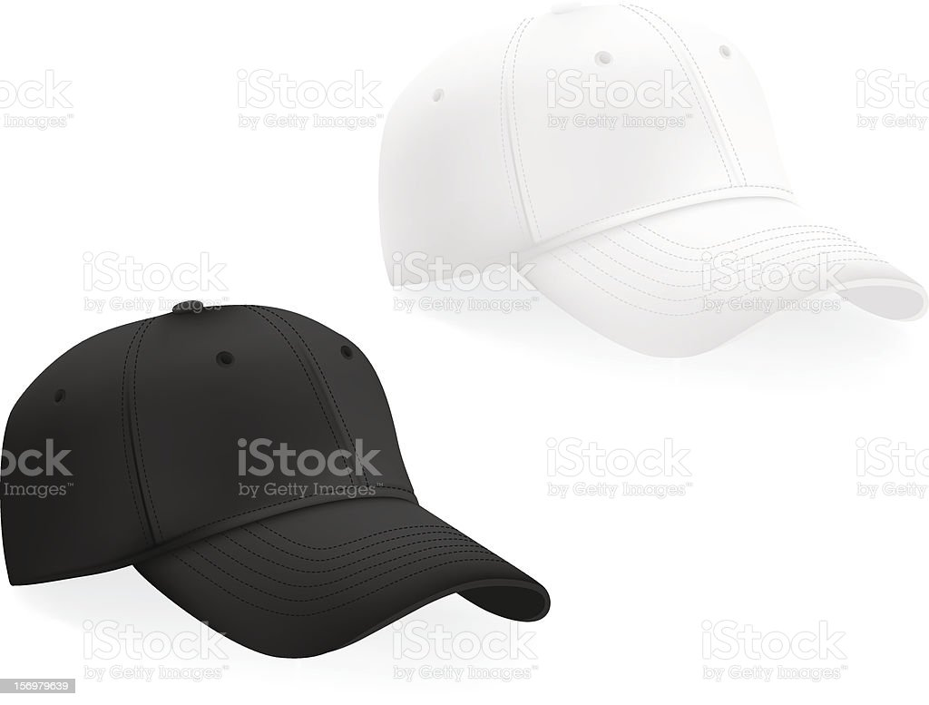 baseball hats template stock vector art more images of blank