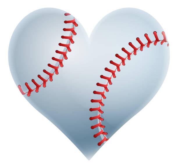 Download Royalty Free Baseball Baseballs Heart Shape Love Clip Art ...