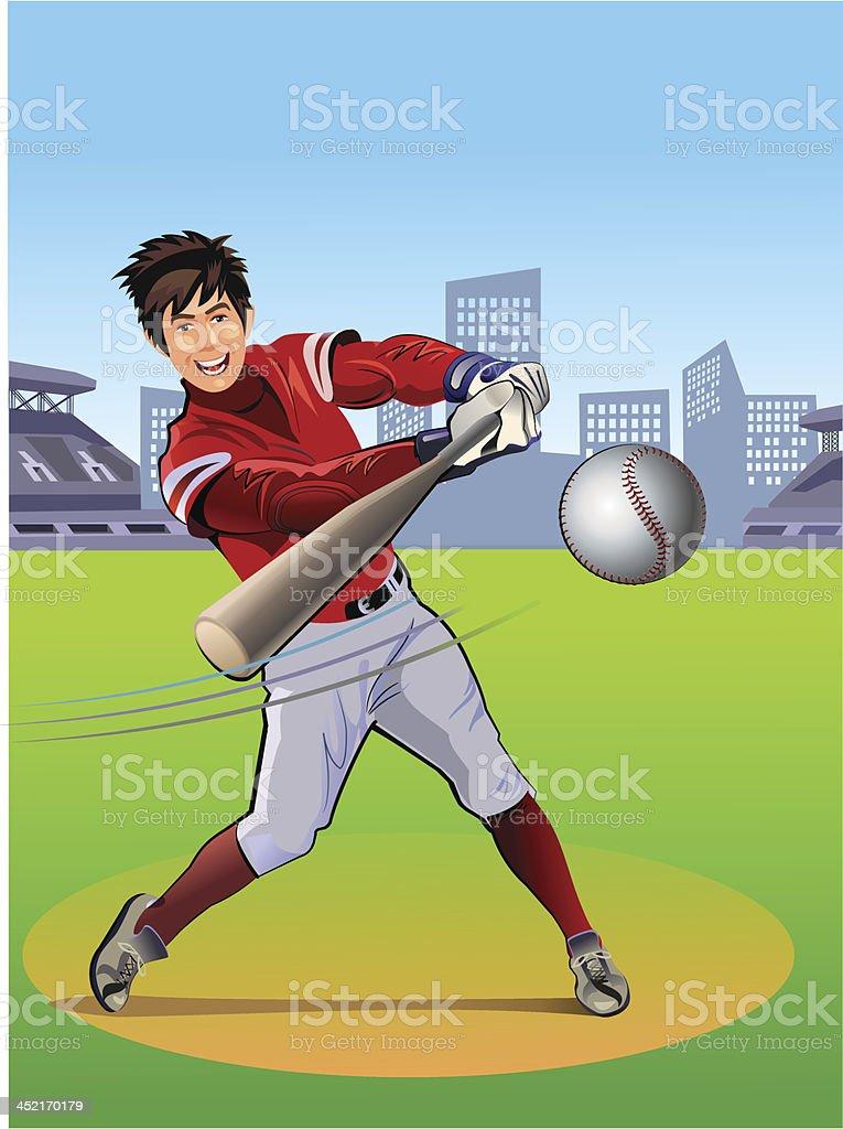 Baseball Hitter vector art illustration