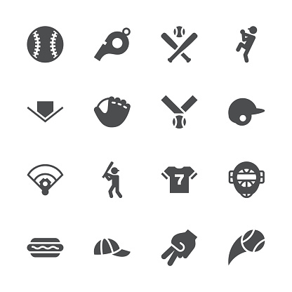 Baseball Icon - Gray Series