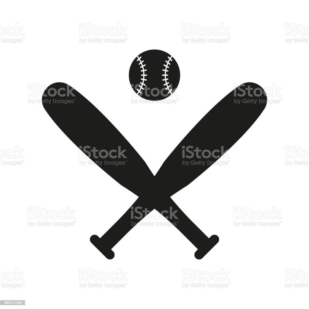 Baseball icon in flat style isolated on white background. For your design, logo. Vector illustration. - Grafika wektorowa royalty-free (Abstrakcja)