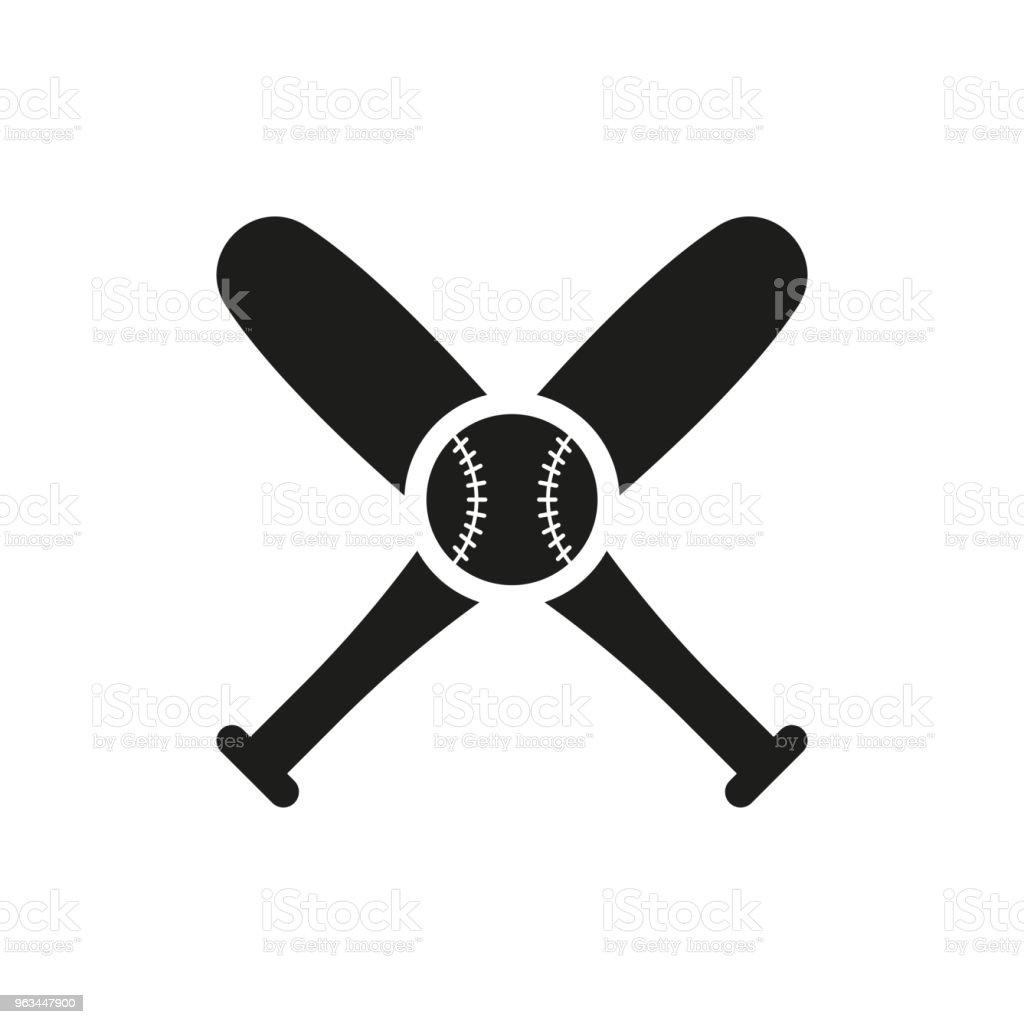 Icône de baseball dans le style plat isolé sur fond blanc. Pour la conception de votre logo. Illustration vectorielle. - clipart vectoriel de Abstrait libre de droits