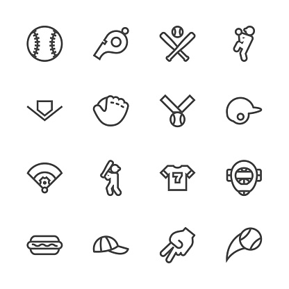 Baseball icon - Line Series