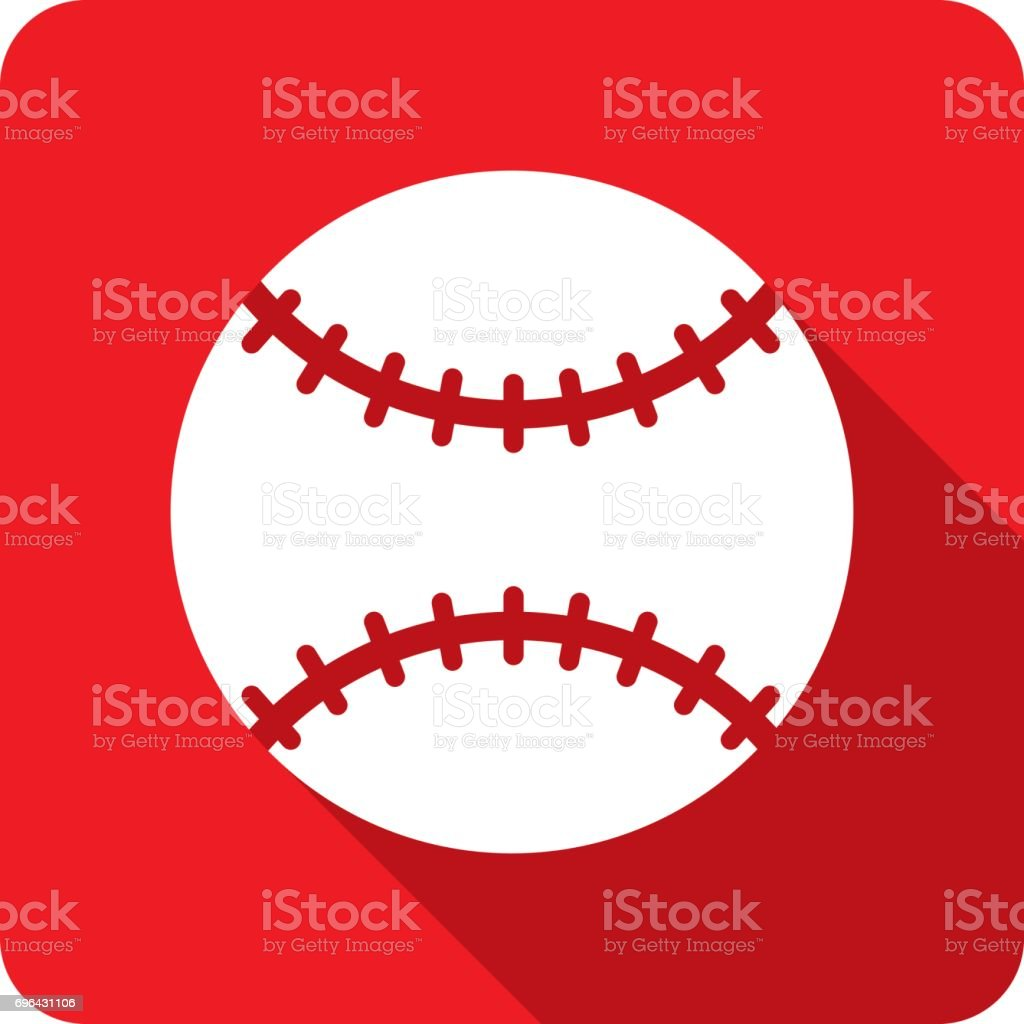 Baseball Icon Silhouette vector art illustration