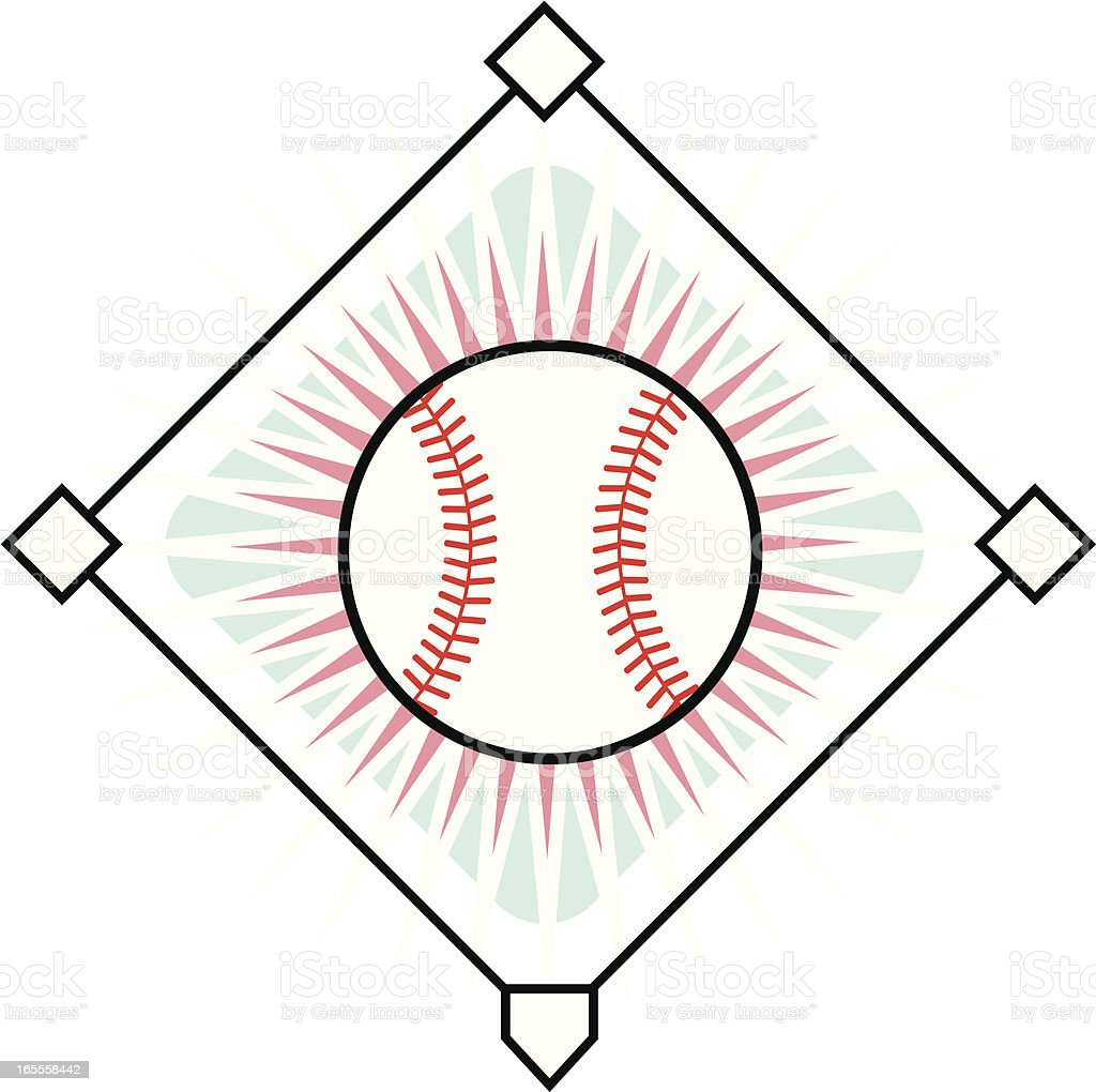 Baseball-Symbol – Vektorgrafik
