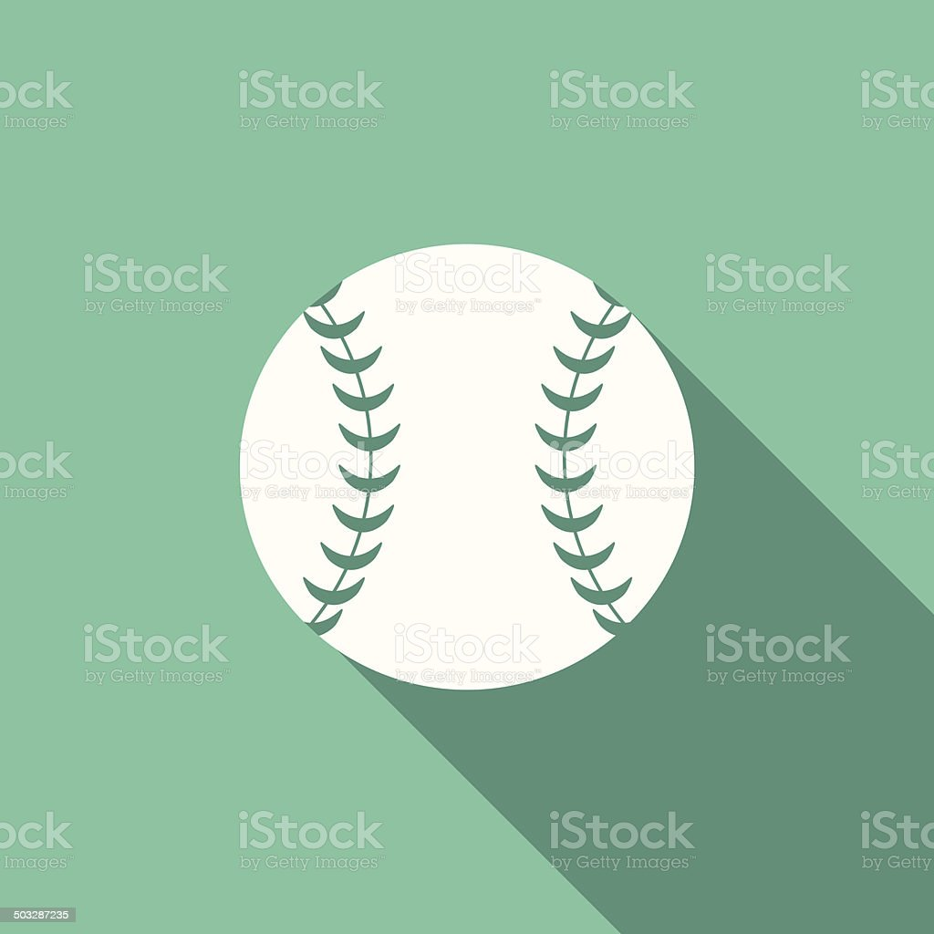 baseball icon vector art illustration